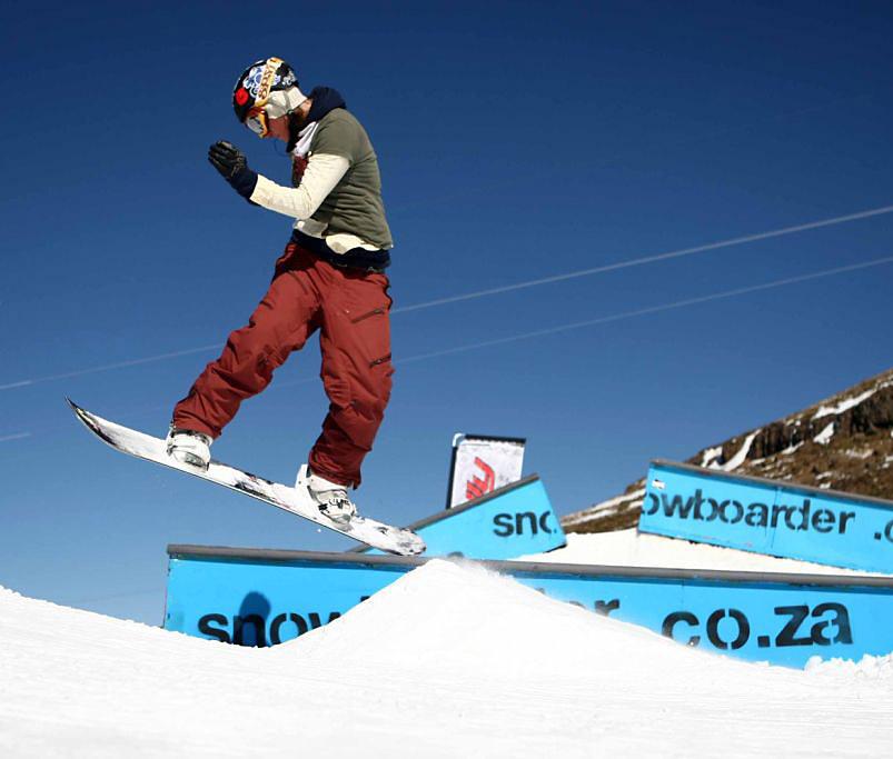 A snowboarder at Afri-Ski, Lesotho