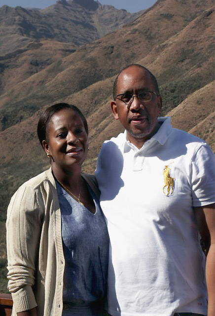 HRH Prince Seeiso and his wife Princess Mabereng