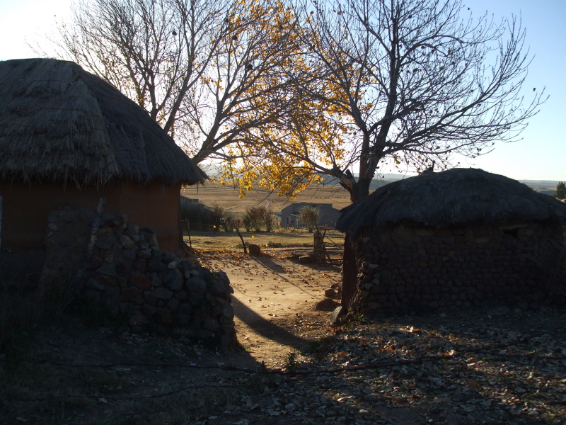 Morning in a Lesotho village