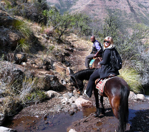 Basotho pony treking in Lesotho
