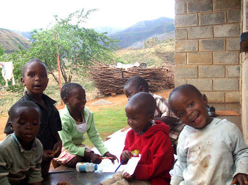 Lesotho Children Colouring books