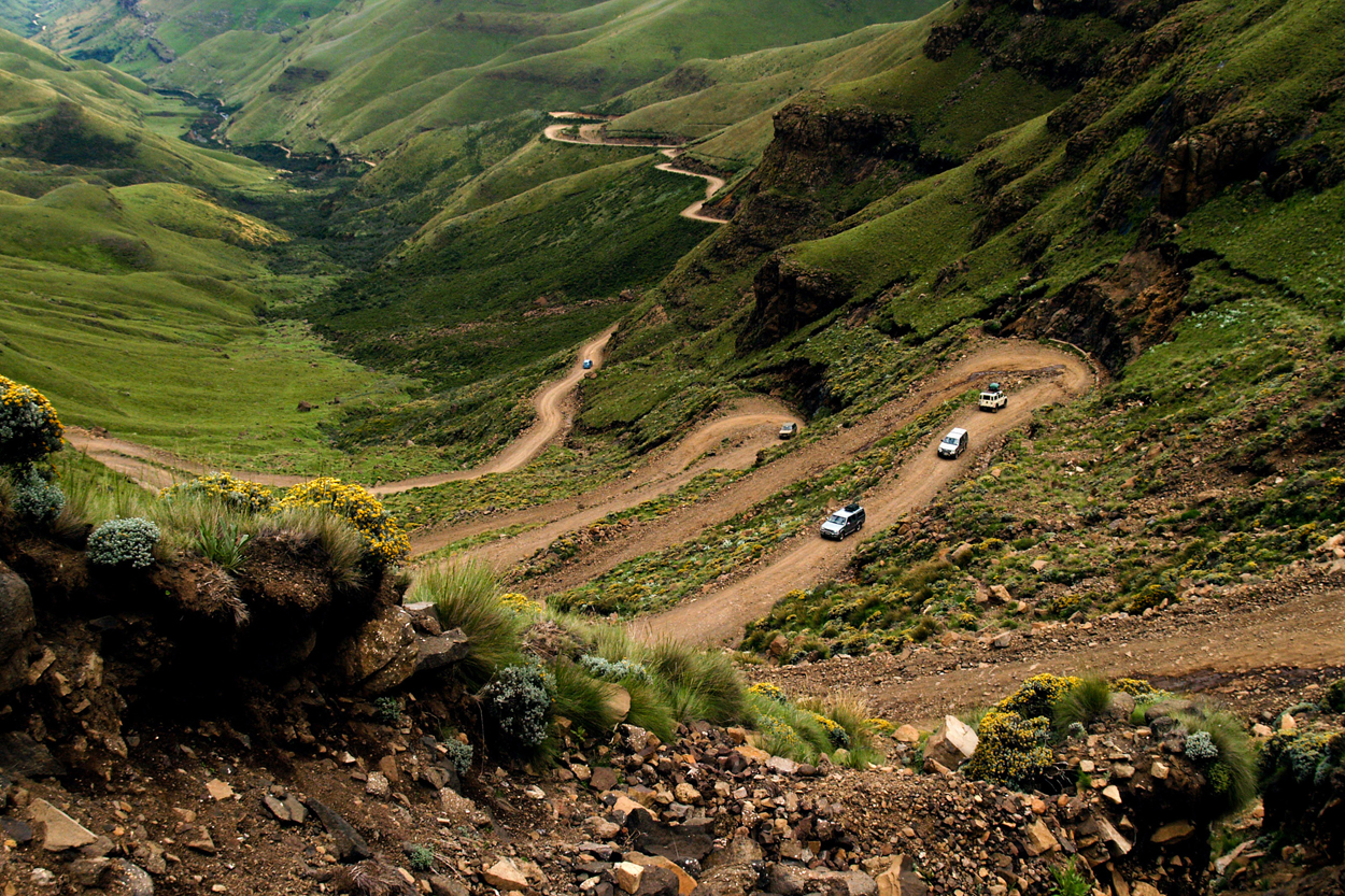 Approaching the top of Sani pass