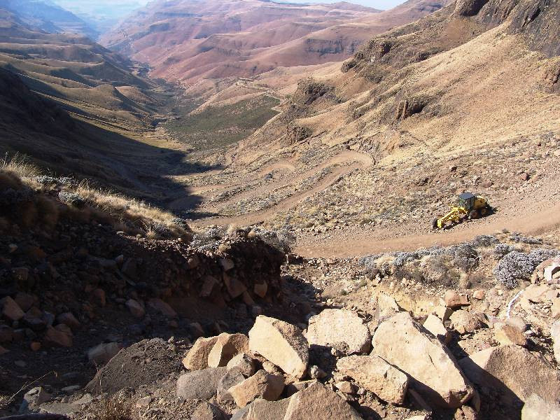 Road works on the Sani Pass