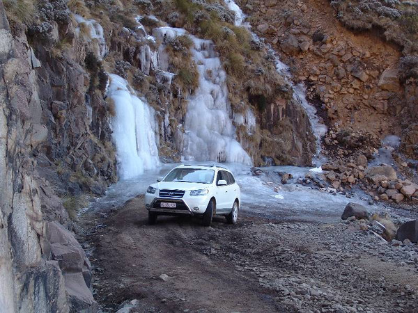 Ice section on the Sani Pass