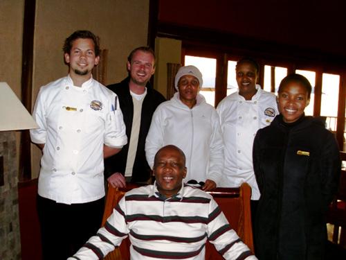 King Letsie 3rd having lunch at Maliba Lodge, Lesotho