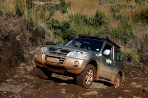 Technical obstacle on the way to Ha Lenkoane, Lesotho