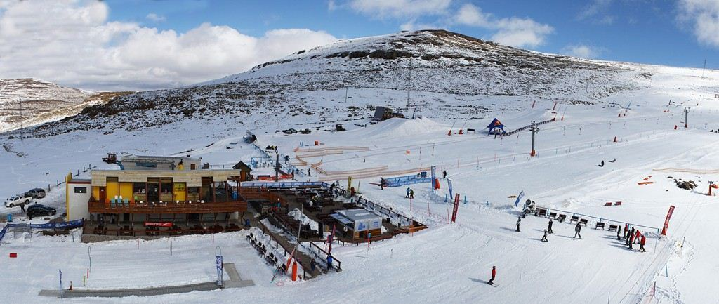 panorama of the AfriSki resort in Lesotho, Southern Africa