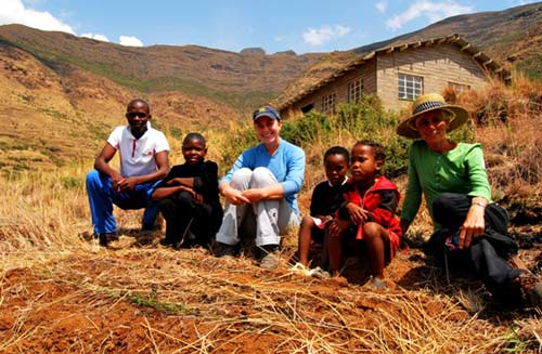 Lesotho Peace corp volunteers at the Ha Mali Community center Lesotho