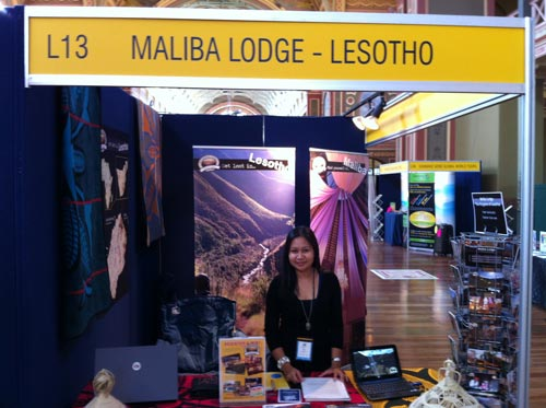 Maliba Lodge stand with Ita
