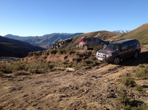 The Nissan X-Trail in Lesotho Mountains