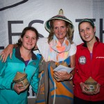 Women's podium of Tracy Zunckel (centre), 2nd place finisher Robyn Kime (left) and 3rd place finisher Canadian Stacie Carrigan (right)