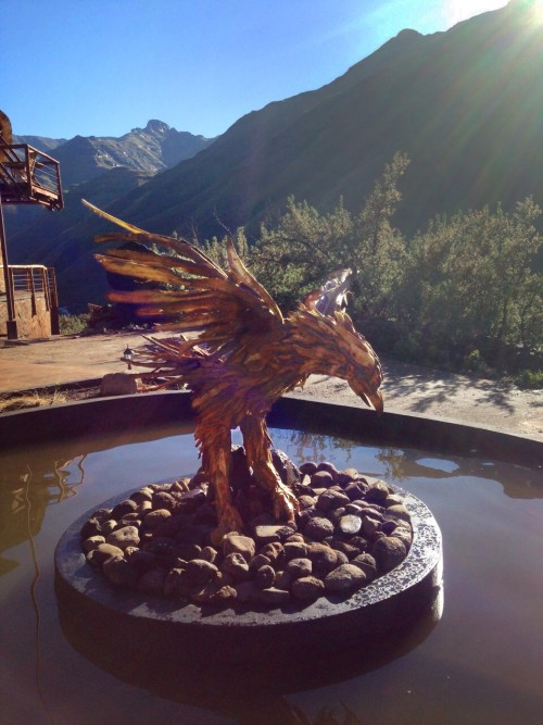 Bearded Vulture sculpture at Maliba Lodge